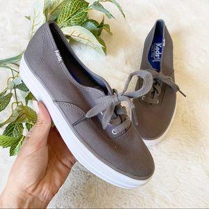 Keds Canvas Lace Up Platform Sneakers